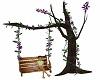 Wooden Swing Tree Purple