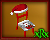 Christmas Chair Red Snow