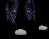 Blue skull boots