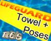 Towel Lifeguard poses