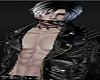 Male Avatar Black LEather Belt Jacket GOTH