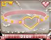 *D* Heart Choker Pink G