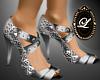 LIZ trinity silver heel