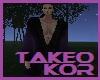 Purple and black kimono