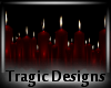 -A- Candle Tray PVC Red