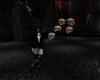 Hanging Skulls on Chain