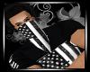 (AA) B&W Flag Bandana M