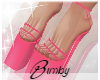Pink 'kini Heels