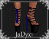 Laced Platform Shoe-blue