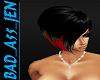 SHORT RED BLACK HAIR