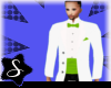 lime green and white tux