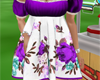 Flower Day Dress Violet