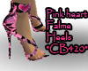Pink heart Flamed heels