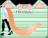-M- Peach Wolf Tail