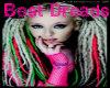 Purple,Blond,Pink Dreads