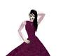 burgundy velvet gown