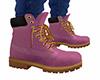 Light Pink Work Boots M