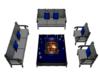 Blue/Gray Garden chairs