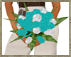 Teal & White Bouquet
