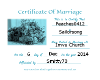 Married Cert Pic