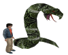 h.p. snake statue