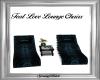 Teal Love Lounge Chairs