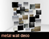 Metal wall deco