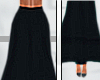 C| Long Skirt Black -