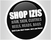 I│Shop IZIS Sign Black