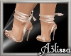 *MA* Summer heels gold