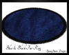 Blue & Black Oval Fur Ru