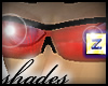 :z Glasses Red Blk Frame