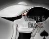 Cat~ White & Black Hat