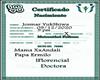 Certificado  Andali