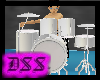 Animated Chrome Drum Kit