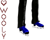 Blue skates male
