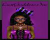 Purple Black Skull Bow