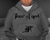 Fear Hoodie Grey