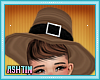 ! KID Brown Pilgrim Hat