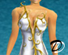 Gold vine dress (white)