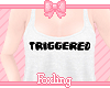 🎀Triggered top white