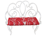 red lace bench