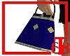 (T68) Hand Bag (blu/gld)