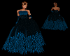 Feathered Gown Blue