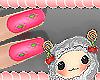 Unha rosa baby kids