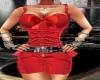 hot in red dress