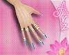 [Arz] Nails Light Blue