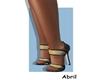 sandals black & gold