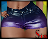 Metallic Shorts - Grape