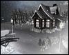Xmas snow cabin deco
